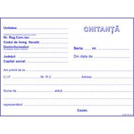 Chitanta, carnete A6, 2 ex/set, 50 seturi/carnet